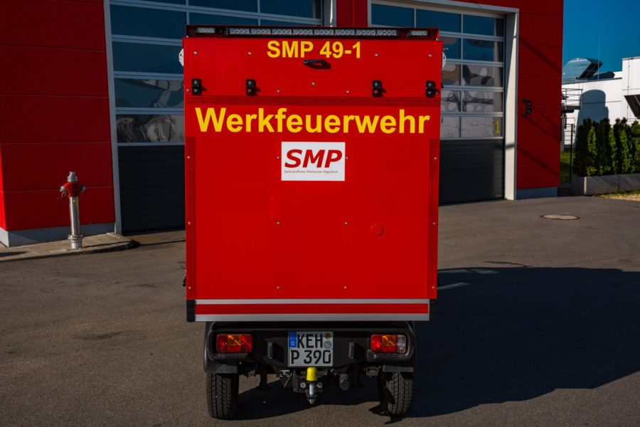 Foto: Goupil G4 als Einsatzfahrzeug bei der SMP-Werksfeuerwehr in Neustadt